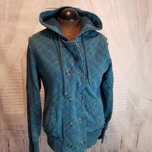 Nollie zip women sweatshirt coat jacket hoodie L